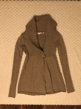 Vince XS Tan One Button Cardigan Sweater Alpaca Cashmere Wool Shawl Collar