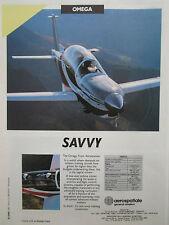 9/1990 PUB SOCATA AEROSPATIALE AVION OMEGA AIRCRAFT MILITARY TRAINER ORIGINAL AD