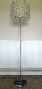 LOVELY CHROME AND CRYSTAL GLASS EFFECT FLOOR LAMP
