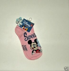 DISNEY MICKEY MOUSE SOCKS WITH ANKLE DECORATION 9-11