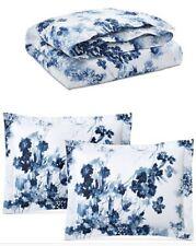 Ralph Lauren Home Flora FULL/QUEEN 3 -PC Comforter Set Blue Floral Cotton $385