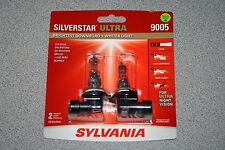 Sylvania Silverstar ULTRA  9005 Pair Set High Performance Headlight 2 Bulbs NEW