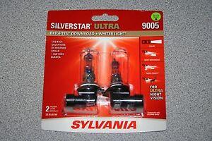 Sylvania Silverstar ULTRA 9005 Pair Set High Performance Headlight 2 Bulbs NEW