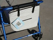 Walker / Rollator Tote Storage Bag, Pouch, Organizer, Cream With Black Trim NIP