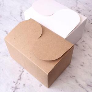 10 50 Kraft 15x10x8cm Large Cardboard Box Brown White Cake Wedding Party Favour
