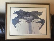 """The Keeper"" Ltd Edition 1627/2000 by Charles Bibbs.  Custom mat/frame"