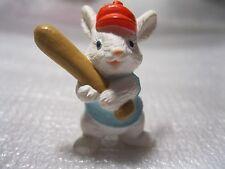 1990 Hallmark Everyday Merry Miniature Baseball Bunny Bat Rabbit