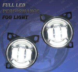 QSC Full LED Fog Lights Pair w/ LED Arches for Kenworth T660 Peterbilt 579 587