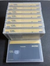 Lot of 8 Panasonic AJ-P126L DVCPRO 126-Minute Video Cassette (Large) - Open Box