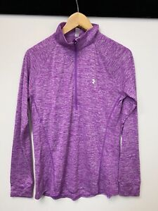 Under Armour Ladies Fitted Quarter Zip Sports Gym Top UK M   A70