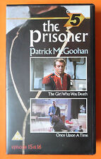 THE PRISONER VIDEO VHS GIRL WHO WAS DEATH & ONCE UPON A TIME PATRICK MCGOOHAN