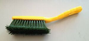 2x Hand Brush,Cleaning Brush,Stiff Bristles Yellow Plastic