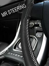 Per Rover Mini 89-00 Volante in Pelle Nera Cover grigio chiaro doppia cucitura