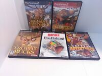 5 PS2 Hunting & Fishing Games - Cabela's & Rapala Tested Fast Shipping!