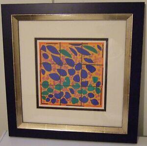 Henri Matisse Lierre en Fleur, original lithograph, framed, COA