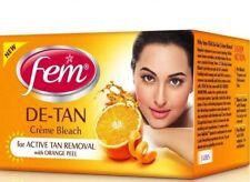 Fem De-Tan Creme Bleach No Ammonia Active Tan Removal w/ Orange Peel - 30 Gram