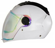 Steelbird Sba-2 Full Face Night Vision Dashing White Motorcycle Helmet-M(58cm)
