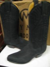 Tony Mora Women/s Black Nubuck Leather Western Boot 3389 Size 6.5 New
