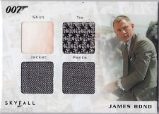 JAMES BOND AUTOGRAPHS & RELICS SQC1 DANIEL CRAIG OPENING QUAD COSTUME 188/200