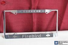1968 GM License Pontiac Firebird Front Rear License Plate Tag Holder Frame New