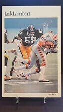 1981 Marketcom Football Autographed Mini Poster Jack Lambert - 1/1