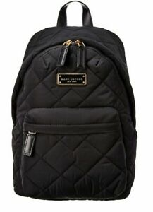 NEW Marc Jacobs Black Quilted AZURE Nylon Backpack