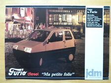JDM SIMPA Furio rare sans permis microcar brochure-années 80