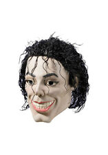 Michael Jackson Mask Plastic Man King Of Pop Singer Face Hair Vinyl Costume