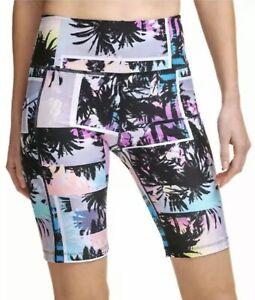 "Calvin Klein Bike Shorts Performance High Waist w/ Pocket Multi Small 9"" Women's"