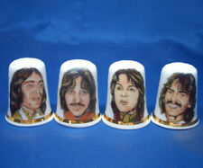 Birchcroft China Thimbles -- Set of Four --  Early Beatles Portraits