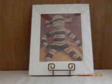 """Mr. Brown Stripey""  Sock Monkey print"