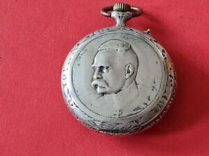 Taschenuhr Systeme Roskopf Patent mit Kaiser Wilhelm Porträt um 1900 !!!