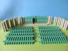 Playmobil Zaun grün Komplett SET Gatter zu Bauernhof Koppel Weidezaun 3504 3556