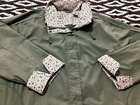 Blair Windbreaker Jacket Women's Size Large 3XL  Full Zip Floral Cuffs Collar