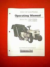 MTD MONTGOMERY WARD TRACTOR MODELS TMO-33925A & TMO-33929A OWNER / PARTS MANUAL