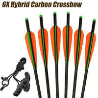 6X Hybrid Carbon Crossbow Bolts Changeable Point Aluminum Insert/Crossbow Rope