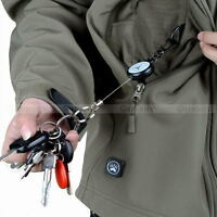 Retractable Pull Chain Reel Card Badge Holder Recoil Belt Plastic Key Chain