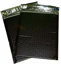 25 Black 6x10 Poly Bubble Mailer Envelope Shipping Wrap Sealed Air Bags Black
