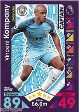 2016 / 2017 EPL Match Attax Base Card (167) Vincent KOMPANY Manchester City