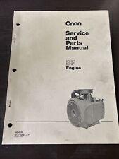 ONAN BF Engine Service Shop & Parts Manual 965-0250 Spec A-F Book Guide Repair
