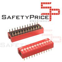 3x Interruptor Dip Switch 12 posiciones 12p ON OFF 2.54mm SP
