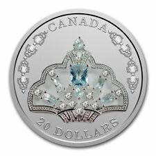 2020 Canada Silver $20 Elizabeth Ii's Brazilian Aquamarine Tiara - Sku#212276