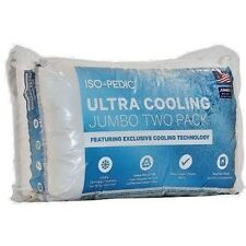 Iso-Pedic Ultra Cooling Jumbo 2 Pack Pillows 1000 Thread Count 100% Pima Cotton