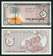 Nigeria Biafra 5 shillings 1967 Rising Sun & Palm Tree P1 UNC