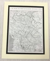 1915 WW1 Originale Stampa British Francese Battle Terra Il Balcani War Map Linee