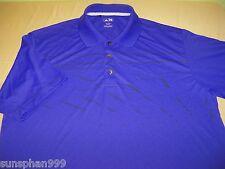 Men's ADIDAS  Golf Polo Shirt  Size  L Large - Purple -  100% POLY