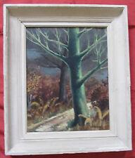 """Belle huile 1960 par W.PERA """" l'arbre vert """""""