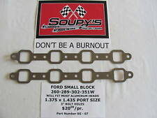 """Ford Small Block Exhaust Gaskets (3"""" bolt holes)"""