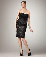 Badgley Mischka Strapless Peplum Cocktail Dress new sz 2