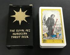 Vintage Black Box Moroccan Royal Fez Tarot Cards Deck US Games 1975